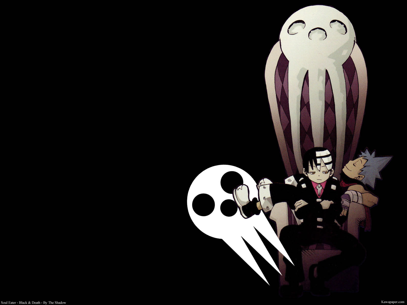 Death The Kid and Black Star Skull Chair